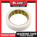 Croco Tape Masking Tape 12mm x 25yards (Beige) General Purpose for Home and Office use