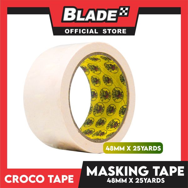 Croco Tape Masking Tape 48mm x 25yards (Beige) General Purpose for Home and Office use