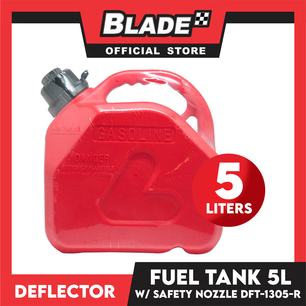Deflector Fuel Tank DFT-1305-R 5L (Red) used for Gasoline, Diesel, Kerosene, Engine Oil and Other Types of Fuels and Chemicals