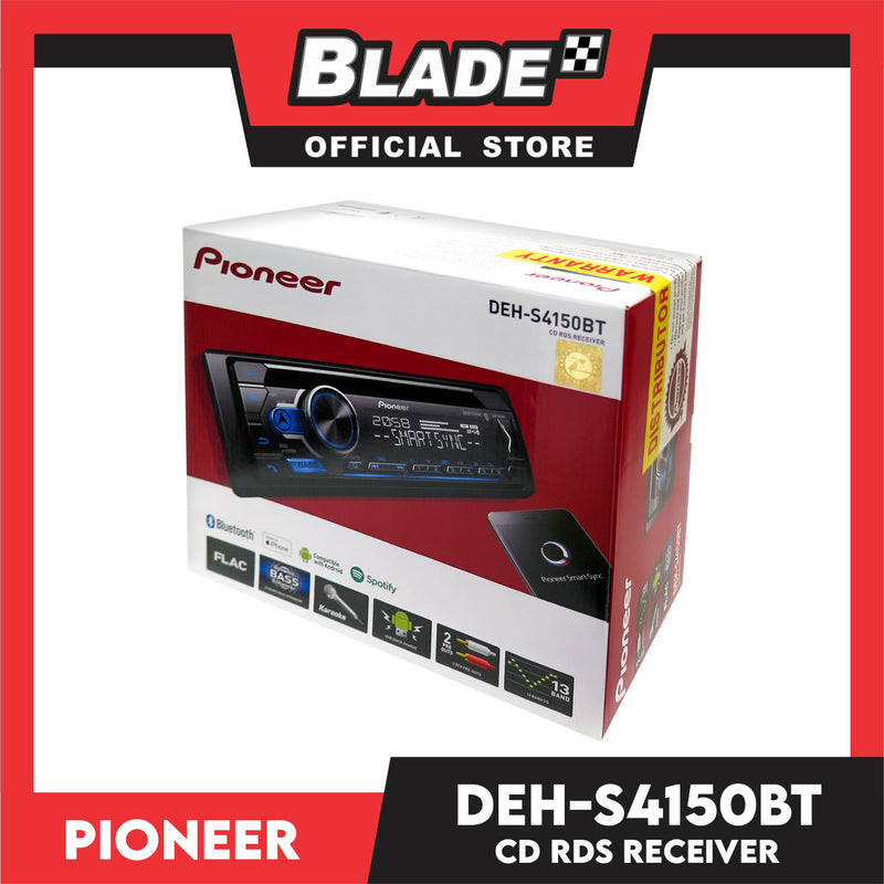 Pioneer DEH-S4150BT CD and Digital Media Receiver with Dual Bluetooth