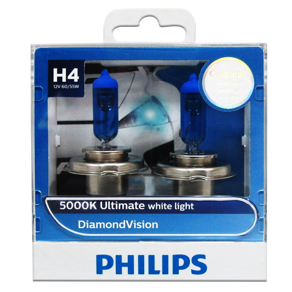 Philips 5000K Ultimate White Light H4 12V 60/55W 12342DVS2 (Pair)