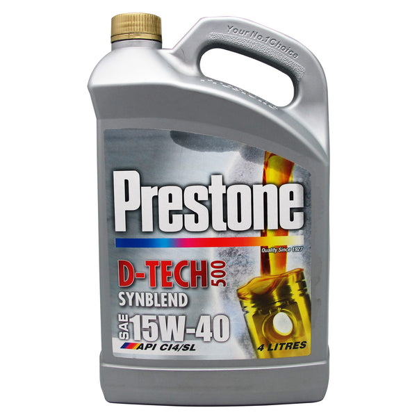 Prestone D-Tech500 Synthetic Blend SAE 15W-40 4Litres