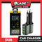 Dub Car Charger 3 Port USB 5.1A Auto-ID with Cig. Lighter Socket CM-11 (Grey) for Android and IOS