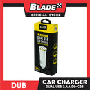Dub Car Charger Dual USB 3.4A Auto-ID DL-C28 for Android and iOS. Samsung, Huawei, Xiaomi, Oppo, iPhone & iPad Series