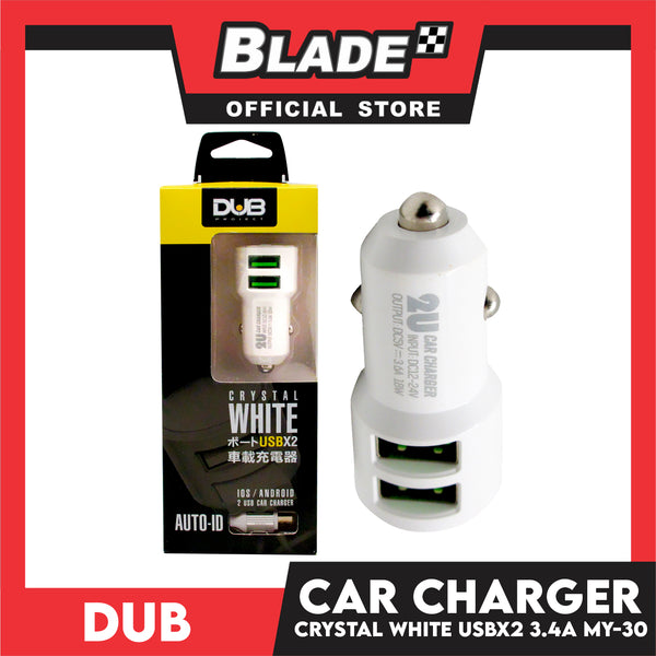 Dub Car Charger Dual USB Port 3.4A MY-30 for Android: Samsung, Xiaomi, Huawei, Vivo, Oppo, LG and Lenovo
