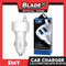 Emy Car Charger 2-Port 4.2A Auto-ID MY-116 (White) with Micro -USB Cable for Android Samsung, Huawei, Xiaomi, Oppo, iPhone & iPad Series- Also Compatible to Other Various Digital Devices