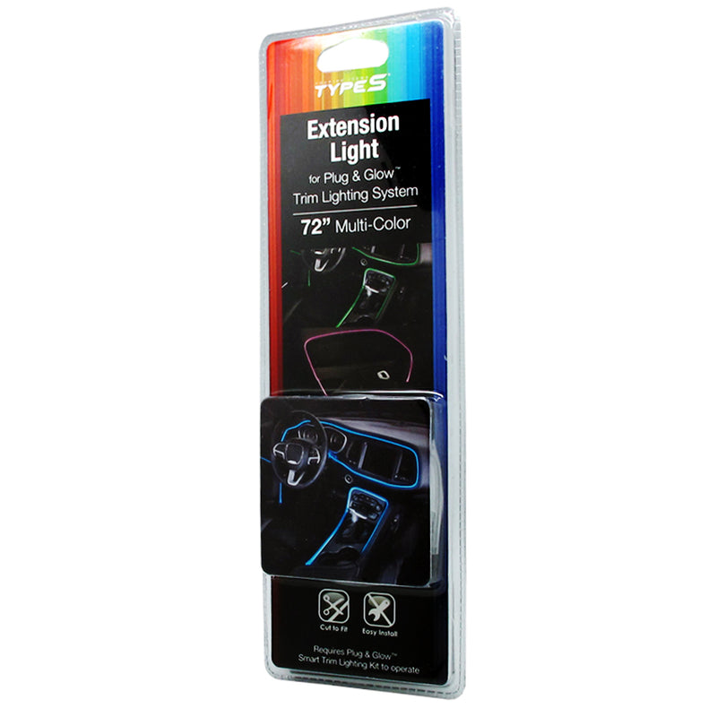 "Type S 72"" Multi-color Extension Light for Plug & Glow Trim Lighting System"