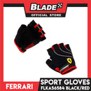 Ferrari Sports Gloves FLKA56584-XLarge Black/Red (Pair)