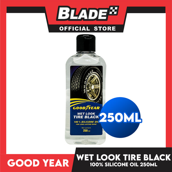 Good Year Wet Look Tire Black 100% Silicone oil 250mL for Long Lasting Shine