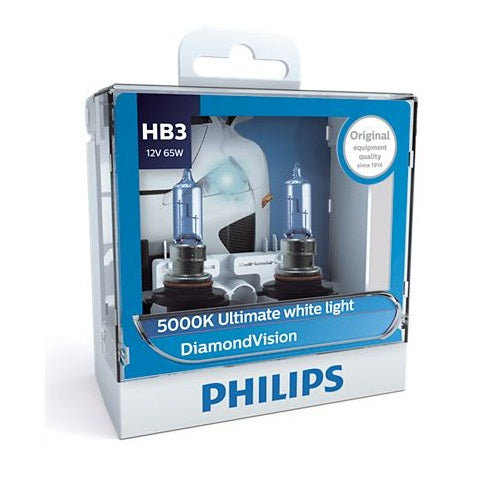 Philips DiamondVision Headlight Bulb 9005DV HB3 12V 65W (Pair)