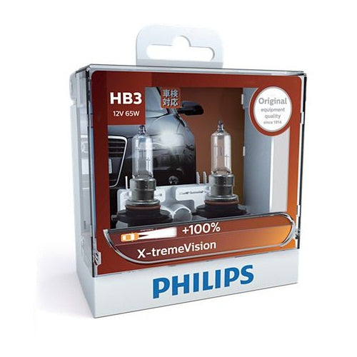 Philips X-tremeVision Headlight Bulb 9005XVS2 HB3 12V 65W (Pair)