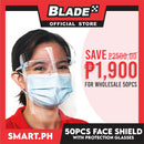 [Glasses+Face Shield] 50 Sets Bundle Waterproof and Dental Face Shield Protective Isolation with Glasses Faceshield Protection
