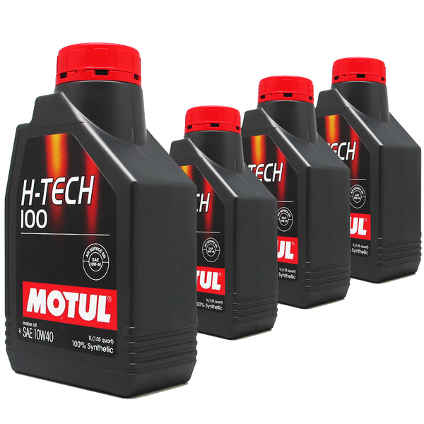 Motul H-Tech 100 Sae 10w40 fully Synthetic 1L (Bundle of 4)