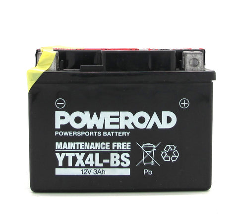 Poweroad Maintenance-free Motorcycle Battery YTX4L-BS