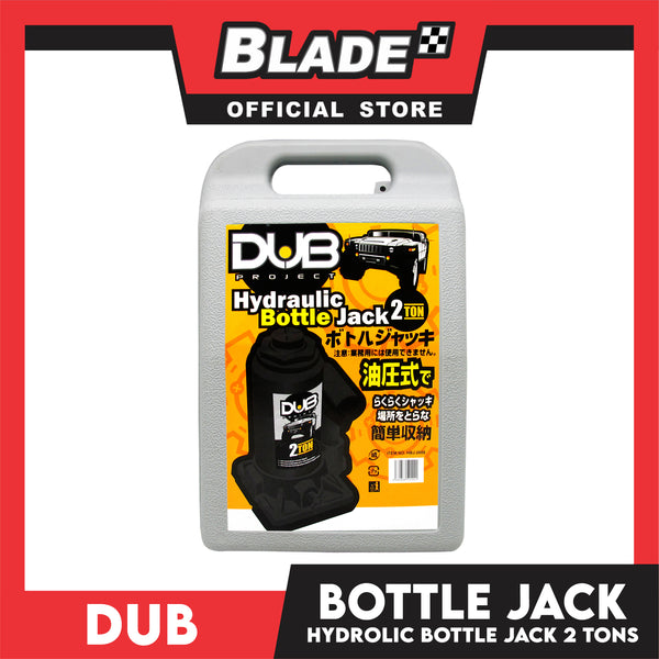 Dub Hydraulic Bottle Jack 2 Ton for Toyota, Mitsubishi, Honda, Hyundai, Ford, Nissan, Suzuki, Isuzu, Kia, MG and more