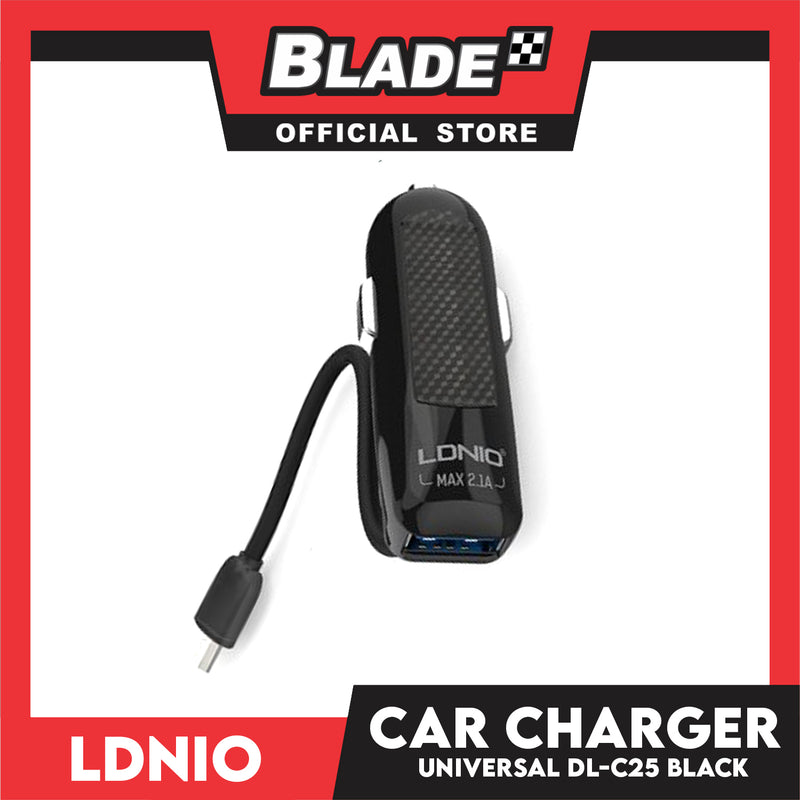Ldnio Car Charger and USB Port 2.1 Universal DL-C25 Support for Android: Samsung, Huawei, Xiaomi & Oppo and iPhone Series