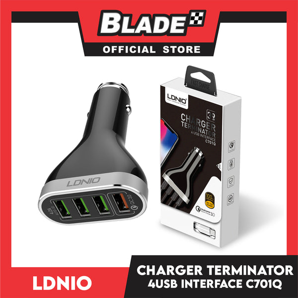 Ldnio Charger Terminator C701Q 4USB for Android and IOS Samsung, Huawei, Xiaomi, Oppo & iPhone