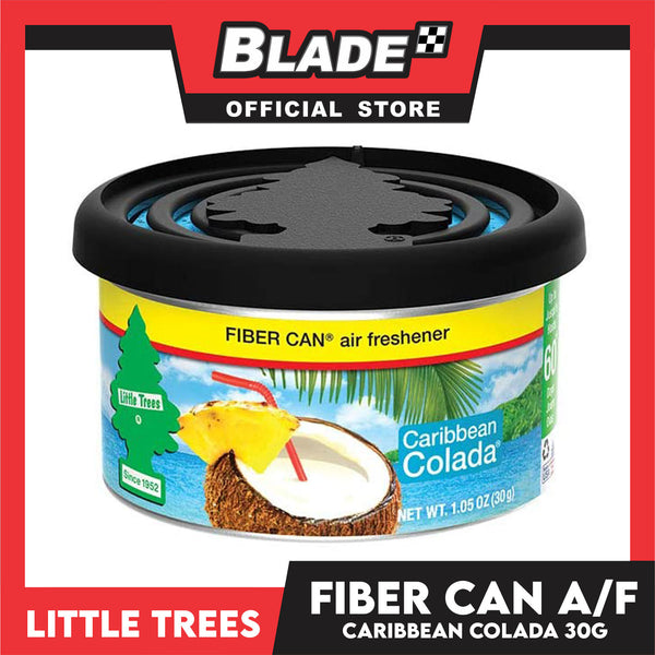 Little Trees Fiber Can Air Freshener Carribean Colada 30g - Fiber Can Provides a Long-Lasting Scent for Auto or Home