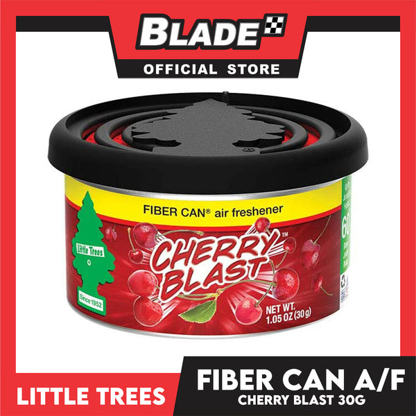 Little Trees Fiber Can Air Freshener Cherry Blast 30g - Fiber Can Provides a Long-Lasting Scent for Auto or Home
