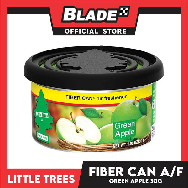 Little Trees Fiber Can Air Freshener Green Apple 30g - Fiber Can Provides a Long-Lasting Scent for Auto or Home