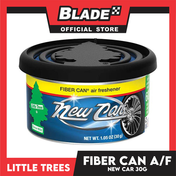 Little Trees Fiber Can Air Freshener New Car 30g - Fiber Can Provides a Long-Lasting Scent for Auto or Home