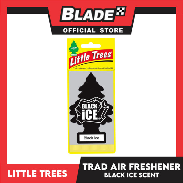 Little Trees Car Air Freshener 10155 Black Ice - Little Hanging Tree Provides Long Lasting Scent for Auto or Home