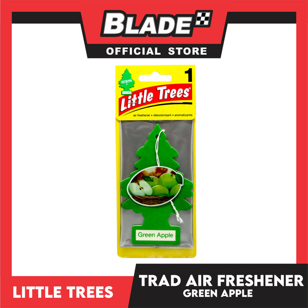 Little Trees Car Air Freshener 10316 Green Apple - Little Hanging Tree Provides Long Lasting Scent for Auto or Home