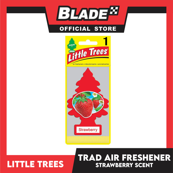 Little Trees Car Air Freshener 10312 Strawberry - Little Hanging Tree Provides Long Lasting Scent for Auto or Home