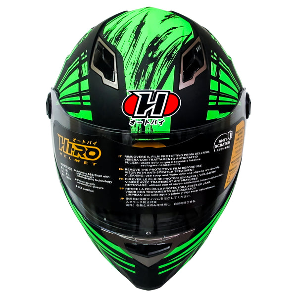 HIRO Helmet HD-09B Sunshine Green (Full face)