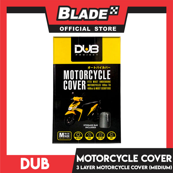 Dub Medium Motorcycle Cover (Gray)