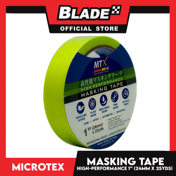 "Microtex Masking Tape 1"" (24mm) x 25yds High-Performance for Home, Office, Automotive & Industrial"