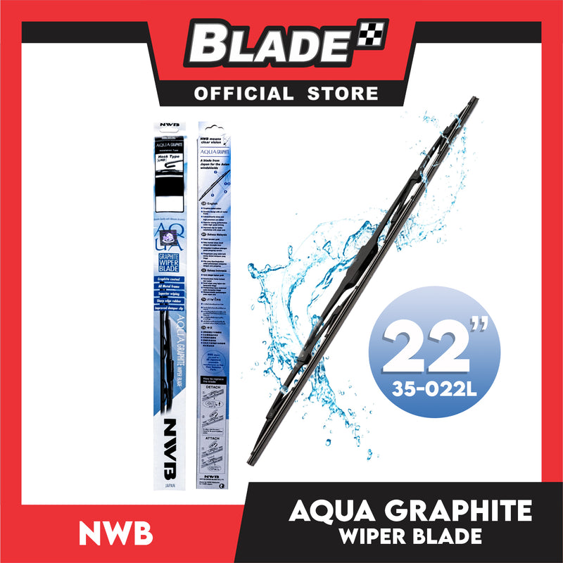 NWB Aqua Graphite Wiper Blade 22'' 35-022L for Ford Expedition, Civic, Hyundai Accent, Eon, Kia Picanto, Mitsubishi Mirage,Montero, Nissan Sentra, Toyota Hiace, Rush