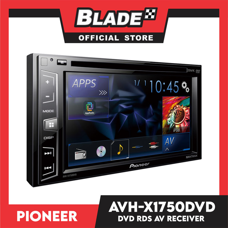 "Pioneer AVH-X1750DVD In-Dash Double-DIN DVD Multimedia AV Receiver with 6.2"" WVGA Touchscreen Display"