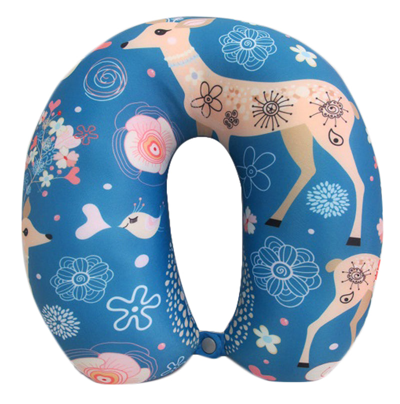 Neck Support Spandex With Print (Blue)