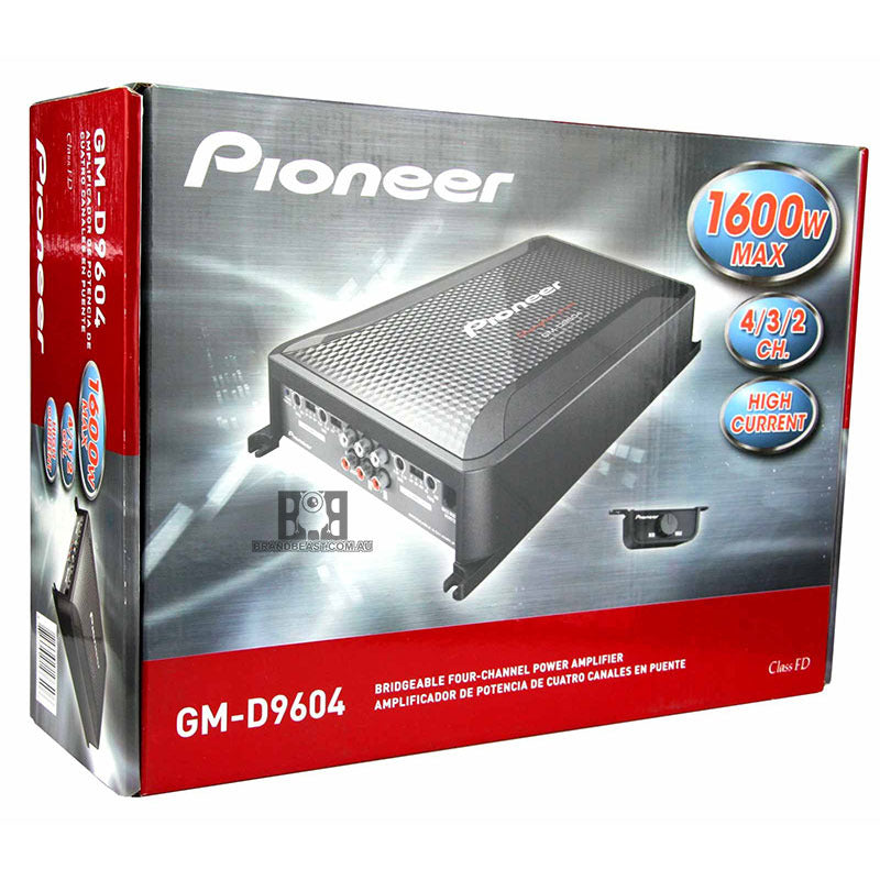 Pioneer GM-D9604 Class FD 4-Channel Bridgeable Amplifier (Black)