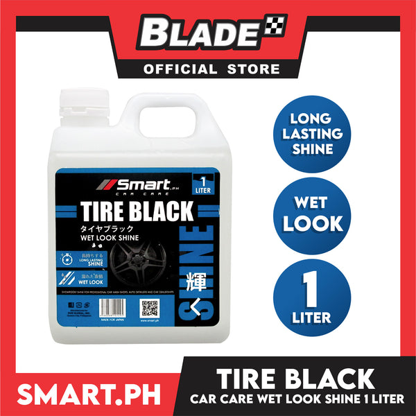 Smart Car Care Tire Black 1 Liter Wet Look Shine Used for Long Lasting Tire Shine & Look Wet
