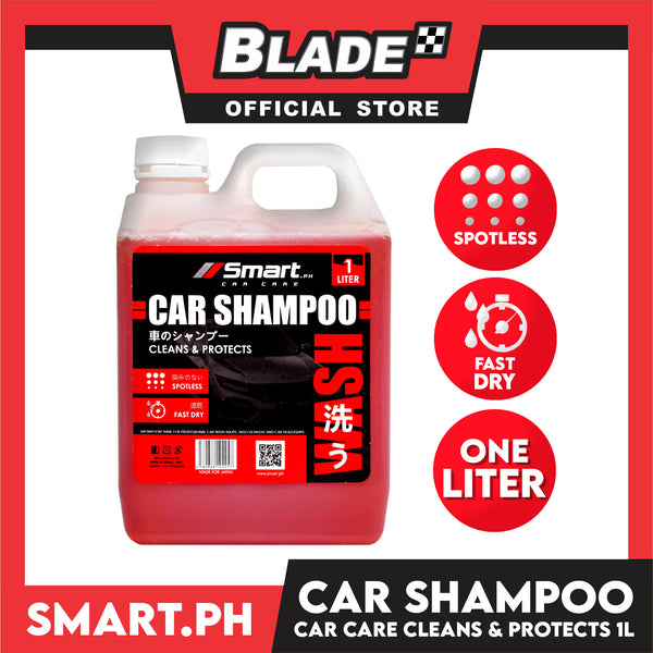 Smart Car Care Car Shampoo 1 Liter Cleans & Protects your Vehicle from Dulls and Contaminants