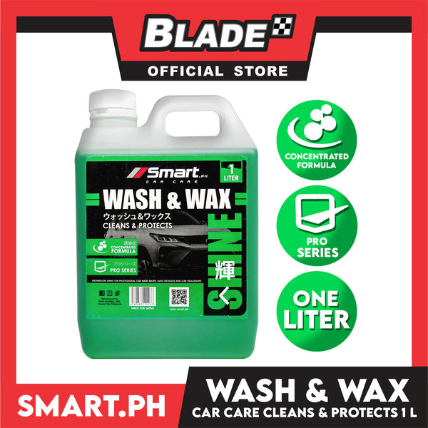 Smart Car Care Wash & Wax 1 Liter Cleans & Protects your Vehicle from Dirts, Grimes and Dusts