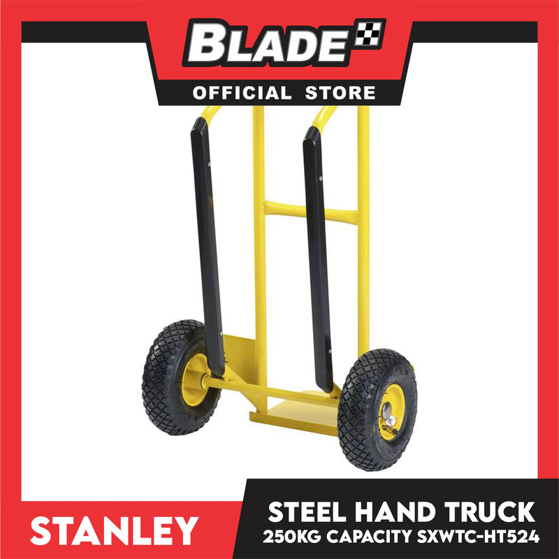 Stanley Steel Hand Truck HT-524 Steel Load (250kg) Trolley, Push Cart, Steel Hand Truck for Warehouse, Distribution and Delivery Use (Yellow)