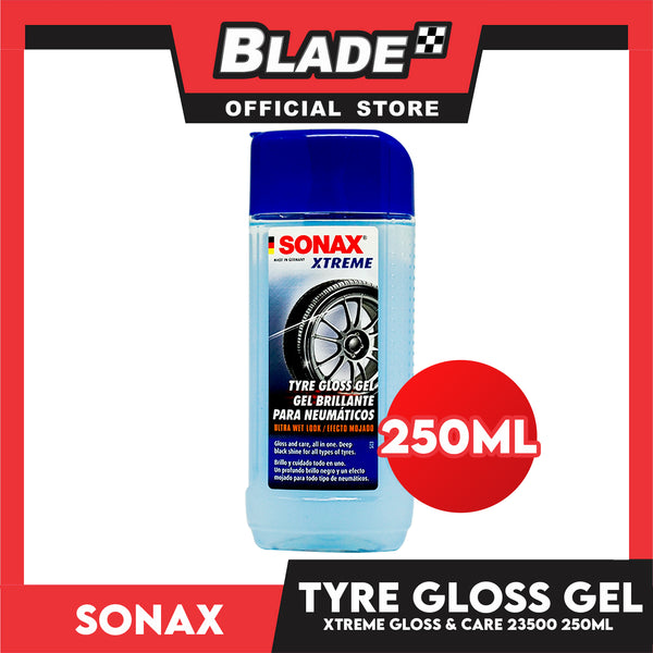 Sonax Xtreme Tyre Gloss Gel 235 100-544 250mL Deep Black Shine For All Types of Tyres
