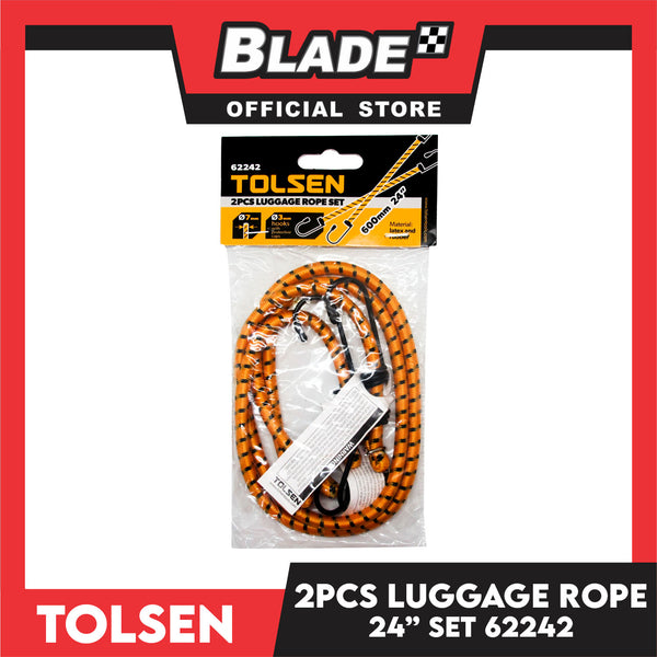 "Tolsen Luggage Rope Set 2pcs 600mm 24"" 62242"