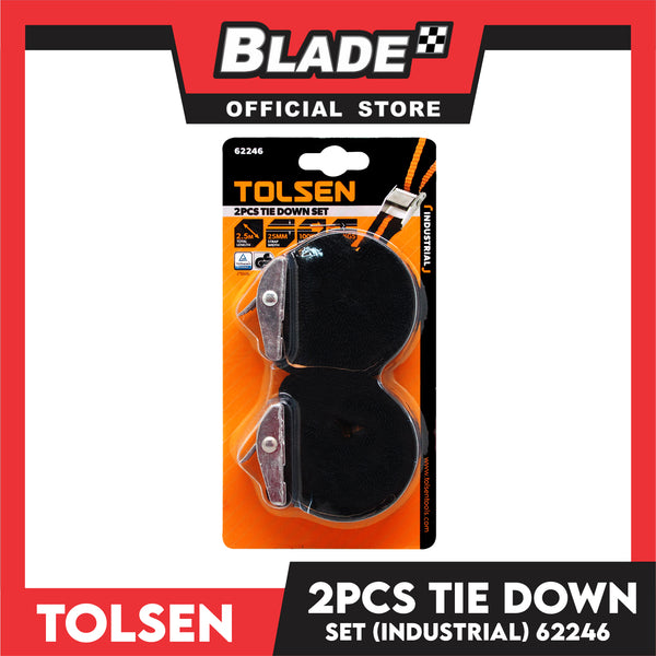 Tolsen Tie Down 25mm x 2.5m 62246 (Set of 2)