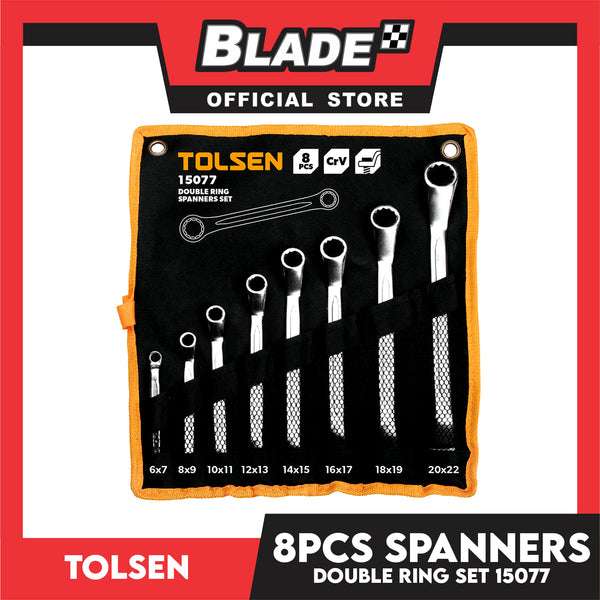 Tolsen 8PCS Double Ring Spanners Set 15077