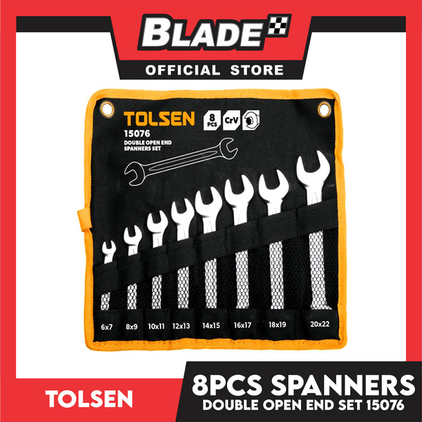 Tolsen 8pcs Spanners Double Open End Set 15076