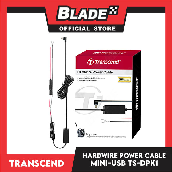 Transcend TS-DPK1 Mini-USB Hardwire Power Cable (Black)