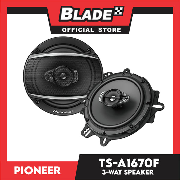 "Pioneer TS-A1670F 6.5"" 3-Way Speaker with Adapter"