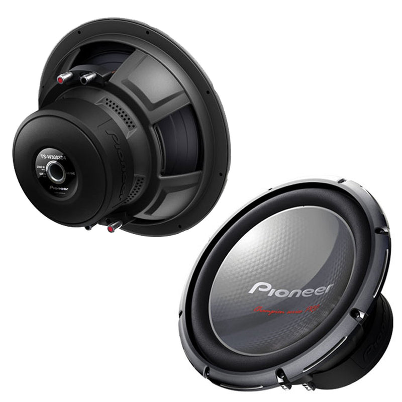 Pioneer TS-W3003D4 Champion Series PRO Subwoofer with Dual 4 Ω Voice Coils