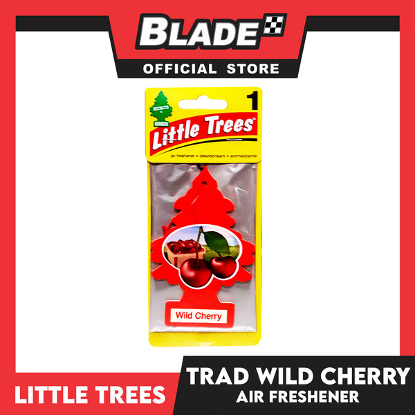 Little Trees Car Air Freshener 10311 Wild Cherry - Little Hanging Tree Provides Long Lasting Scent for Auto or Home