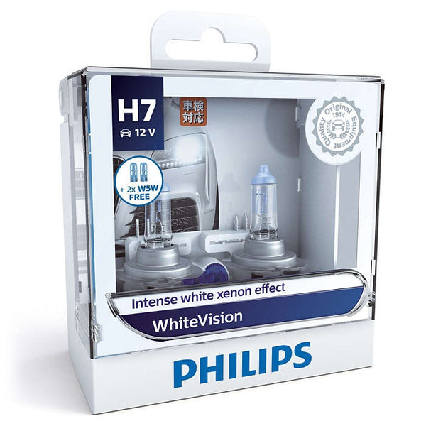 Philips WhiteVision Headlight Bulb H7 12972WHV 12V 55W(Pair)