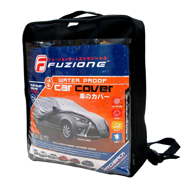 Fuzion Waterproof Hatchback Car Cover FCC-100 (Gray)